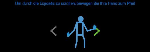 Kinect Interaktion mit einem Strichmännchen im Schaufenster in Buxtehude bei Team Massivhaus in der Hauptstraße